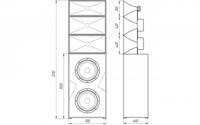 Трёхполосная bi-amp заэкранная система - CP-F3